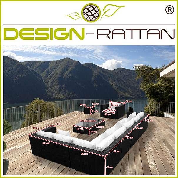 garten rattanm bel triest 260 x 260 cm oder 328 x 192 cm link. Black Bedroom Furniture Sets. Home Design Ideas