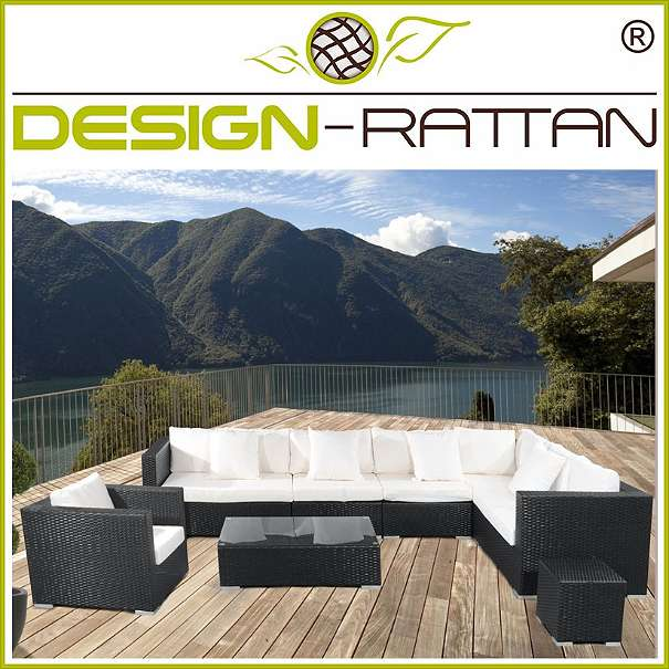 garten rattanm bel triest 260 x 260 cm oder 328 x 192 cm links rechts 1010. Black Bedroom Furniture Sets. Home Design Ideas