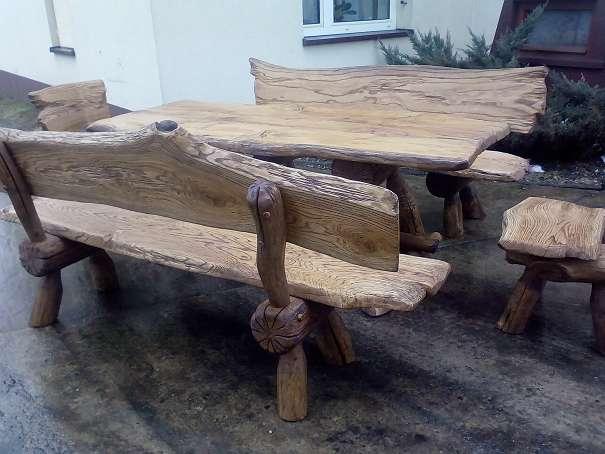Gartenmobel Teak Mit Edelstahl : , Vollholz, Holz, Rustikale Gartengarnitur, Gartenmöbel, NEU