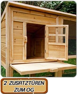 Kaninchenstall XXL - NEU - Hasenkäfig Kleintierstall Kaninchenkäfig Hasenstall Hühnerstall