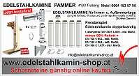 Edelstahlkamin, Schornstein, Rauchfang, 50% RABATT