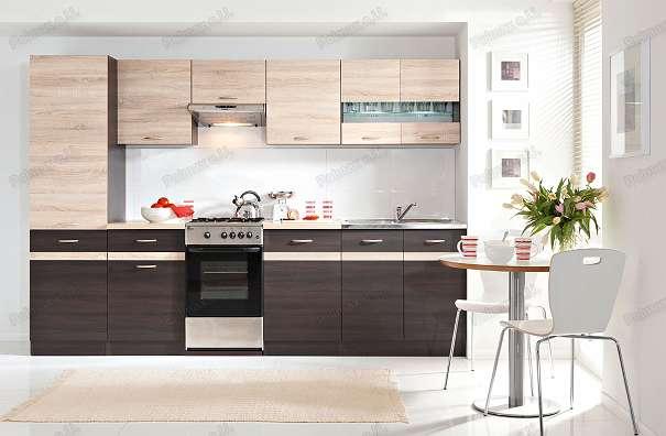 neue k che 240cm in der farbe eiche sonoma wenge 2 jahre garantie monatlich nur 350. Black Bedroom Furniture Sets. Home Design Ideas