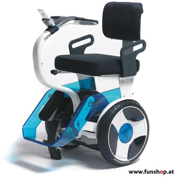 Bild 1 von 13 - Nino Robotics der neue elektrische selbstbalancierende Rollstuhl in blau und weiss der Spass macht im FunShop Wien kaufen testen und probefahren
