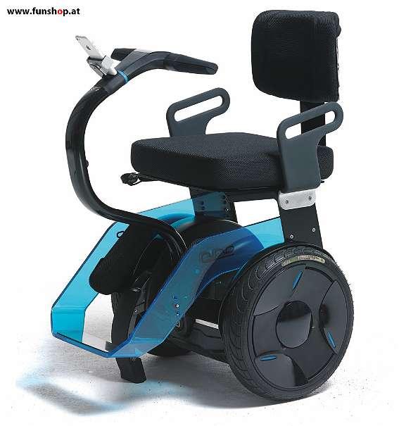Nino Robotics der neue elektrische selbstbalancierende Rollstuhl in blau und schwarz der Spass macht im FunShop Wien kaufen testen und probefahren