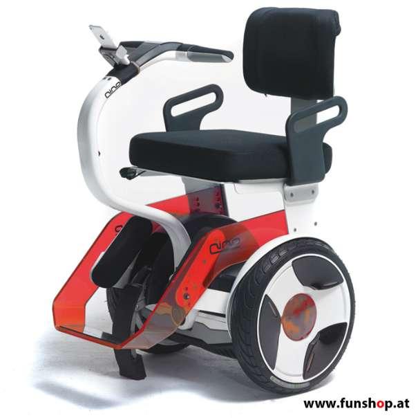 Nino Robotics der neue elektrische selbstbalancierende Rollstuhl in rot und weiss der Spass macht im FunShop Wien kaufen testen und probefahren