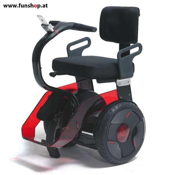 Nino Robotics der neue elektrische selbstbalancierende Rollstuhl in rot und schwarz der Spass macht im FunShop Wien kaufen testen und probefahren