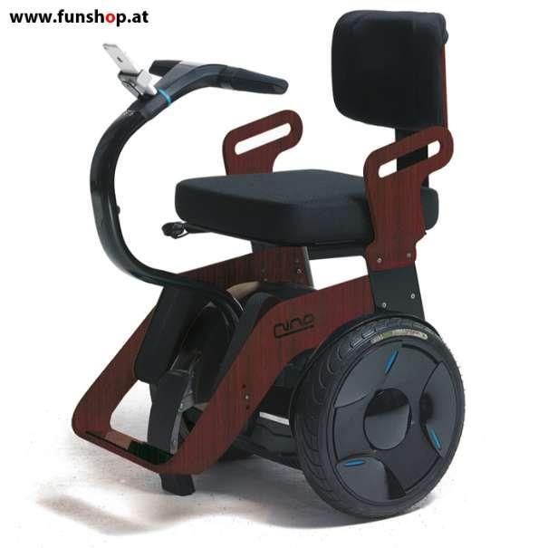Nino Robotics der neue elektrische selbstbalancierende Rollstuhl in Palisander und schwarz der Spass macht im FunShop Wien kaufen testen und probefahren
