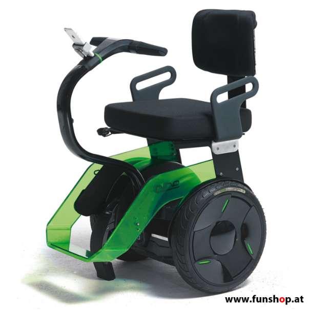 Nino Robotics der neue elektrische selbstbalancierende Rollstuhl in grün und schwarz der Spass macht im FunShop Wien kaufen testen und probefahren