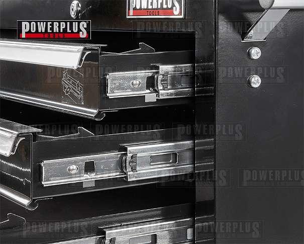 Werkstattwagen Schwarz 5 Schubladen mit Einzelarretierung - Werkzeugwagen leer