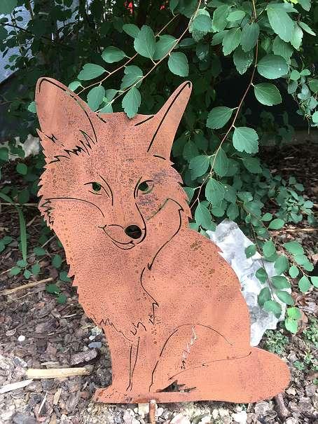 Tiere Aus Metall Deko Für Den Garten Fuchs Rostig 25 5141