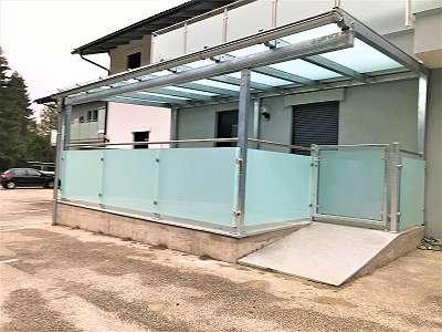 Terrassenüberdachung/ Glasüberdachung