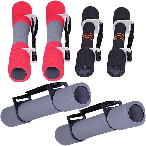 Aerobic Hanteln von 2 x 0,5kg bis 2 x 2,0 kg aus Stahl mit angenehmen Schaumstoffgriff ( Softgriff )