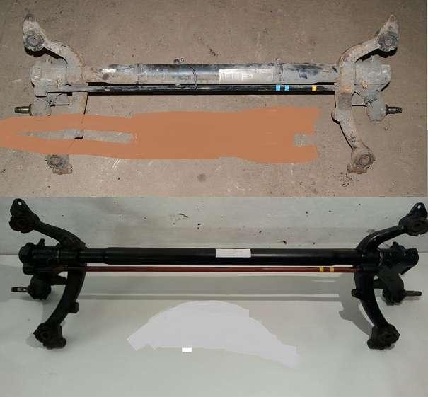 hinterachse citroen peugeot 106 206 206 cc 206 sw 306 405 partner renault kangoo. Black Bedroom Furniture Sets. Home Design Ideas