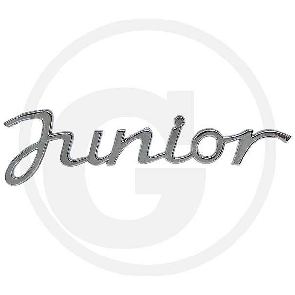 Schriftzug Junior (in Chrom)