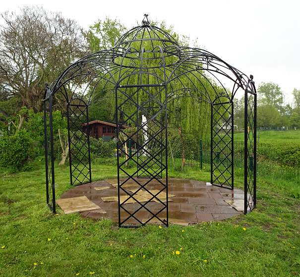 romantiker pavillon rund metallpavillon gartenlaube laube roma gazebo pavillion 990 31655. Black Bedroom Furniture Sets. Home Design Ideas