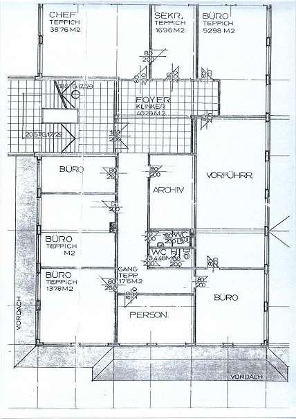Grundriss Büroflächen 1.Stock