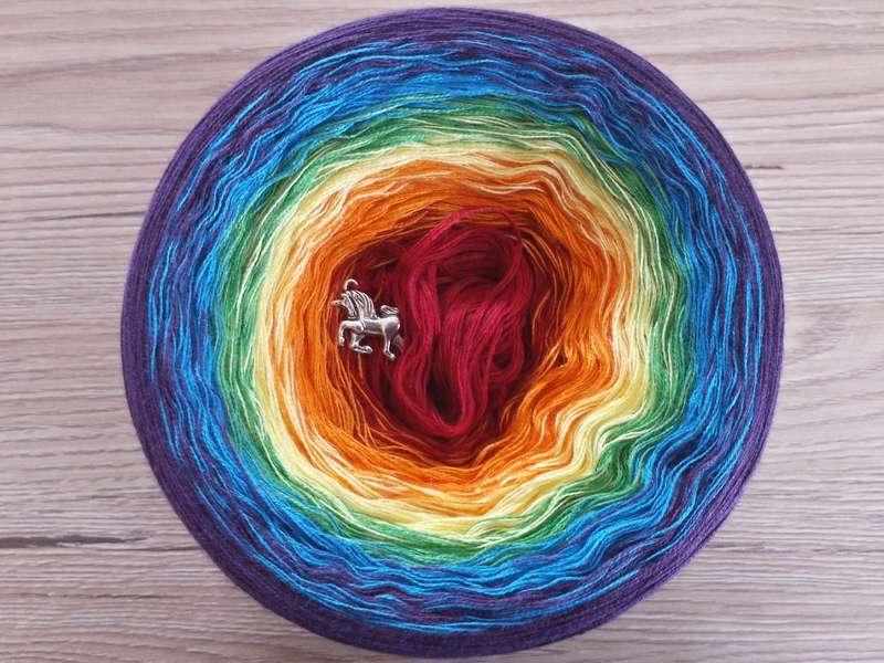 Farbverlaufsgarn Bobbel Wolle Zum Häkeln Und Stricken