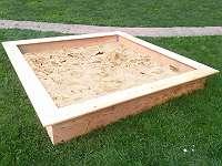 Sandkiste, 180x180 cm