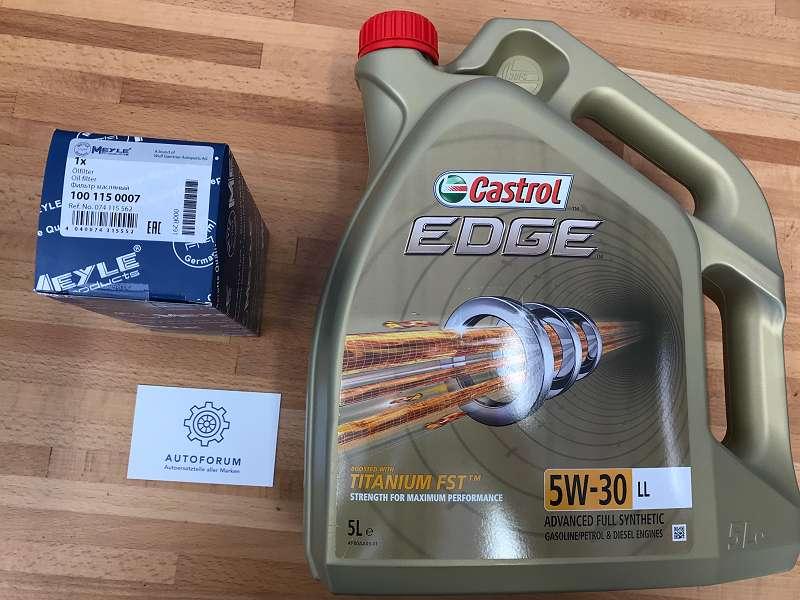 VW Ölfilter + Castrol 5w-30 5L