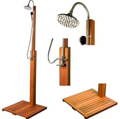 Gartendusche Aussendusche Holz Deluxe