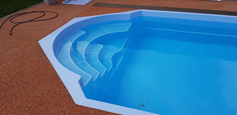 GFK-Pool / Polyester-Pool / Schwimmbecken Florida 7,5m x 3,4m x 1,4m
