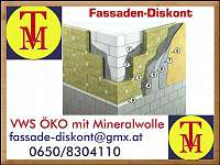 Vollwärmeschutz- FASSADENDÄMMUNG WDVS ÖKO System Fast Rockwool Co. TOP PREISE