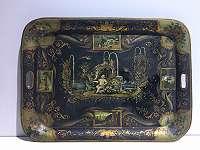 Historismus Tablett mit Malerei