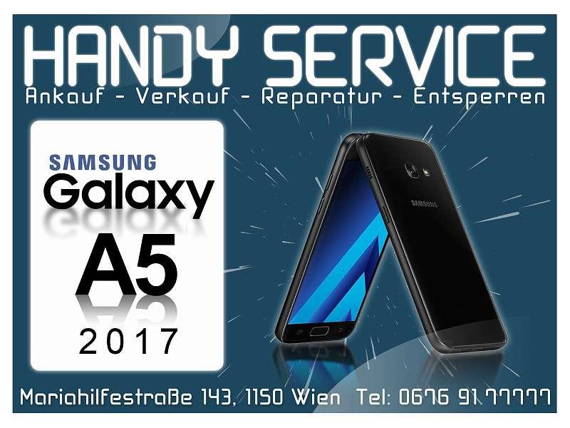 """Samsung Galaxy A5 (2017) A520F 32GB in Schwarz """"WIE NEU"""" OFFEN FÜR ALLE NETZE mit Zubehör!"""