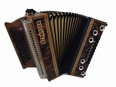 Steirische Harmonika Strasser Hoamat Wurzelnuss