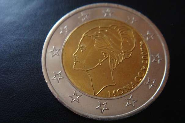 Monaco Grace Kelly 2007 2 Euro Probemünze Lückenfüller Münze