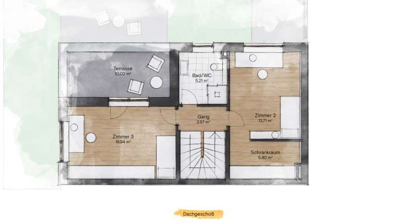 Dachgeschoss Villen, Hinterbrühl Parkstraße, Lehner & Trompeter Bauträger
