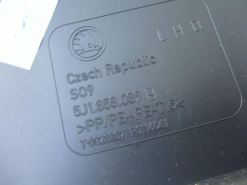 DIN Schacht Skoda Fabia 5J 5J1858089B 5J1 858 089 B Radioschacht Ablagefach Roomster