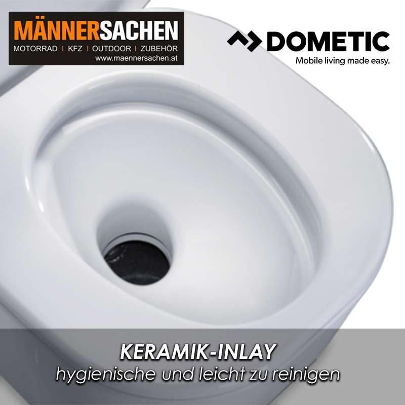 DOMETIC Saneo CW | Drehbare Kassettentoilette mit Keramik-Inlay und Spülwassertank