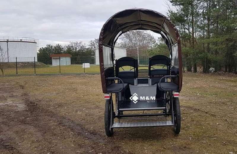 "Marathonwagen Trainingswagen Planwagen Fahrschulwagen 25"" 024 Wagonette Kutsche"