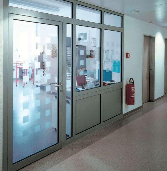 Aluminium Tür 1-flg ALU TÜR mit Paneel, mit Selbstschlißer, Türen Modern Stabil Warm Konstruktion