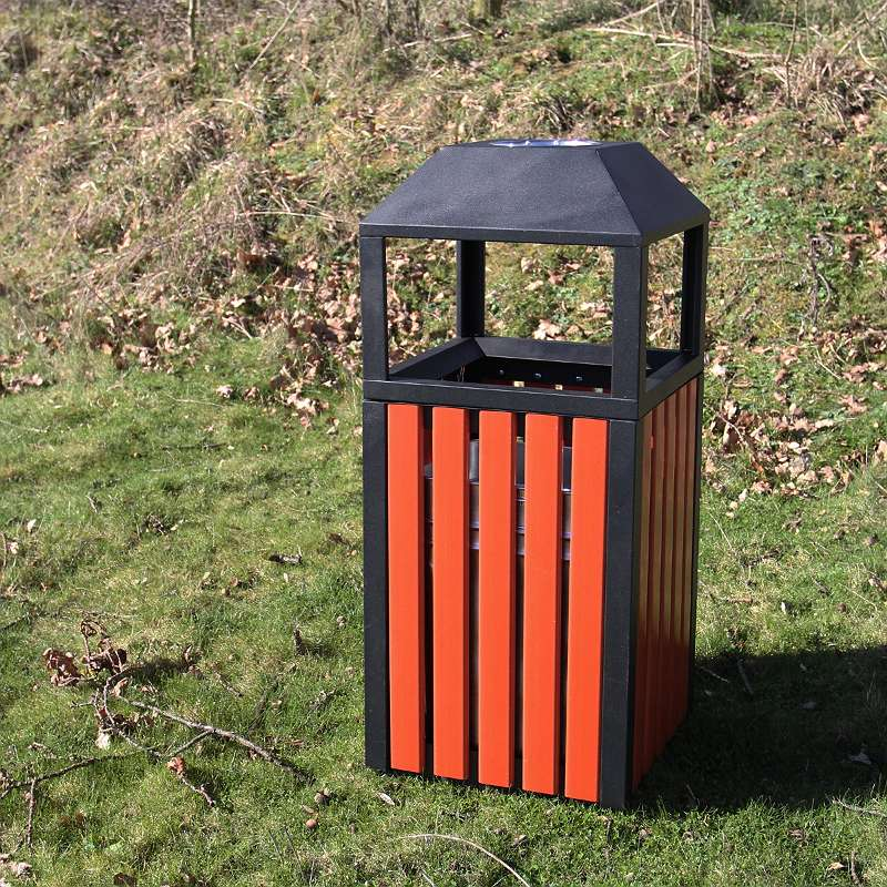 Parkmülleimer Mülleimer Park-Abfalleimer Korb Papierkorb Abfälle Abfallsammler Eimer Park Rechteck 66L 25023