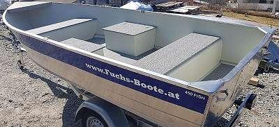 450 Fish Aluboot Aluminiumboot Marine Boote Fischerboot Angelboot Ruderboot Fuchs-Boote