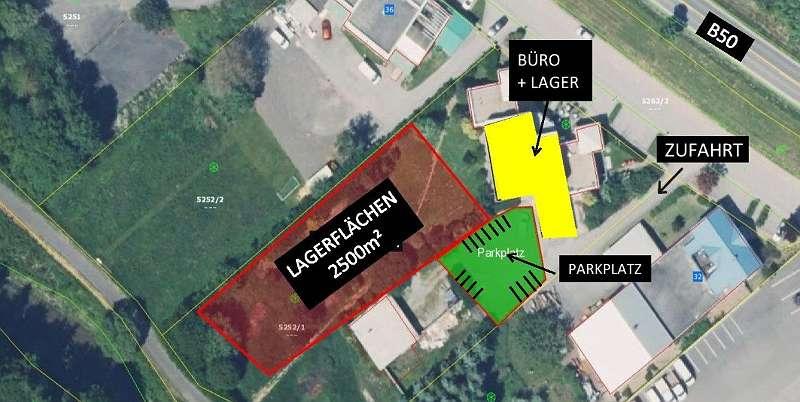 + + FREQUENZLAGE + + Gewerbefläche mit 15 Parkplätzen - Lagerfläche optional