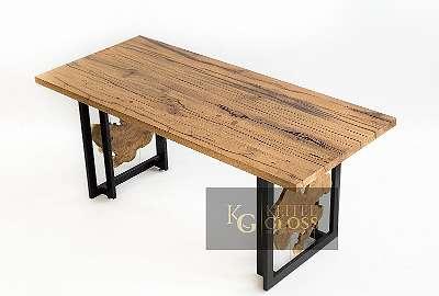 Esstisch, Küchentisch, Massivholz, Tisch, Eiche, Altholz, Alteiche, Antik, rissig, Vintage, Epoxidharz, Unikat, Einzelstück, Handmade,