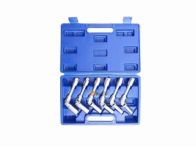 Glühkerzen Gelenkschlüssel Satz 6 tlg Glühkerze Schlüssel 3/8 Zoll Stecknuss