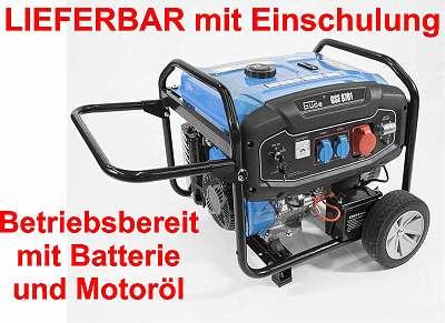 Güde Stromerzeuger, Stromaggregat, Notstromaggregat, Licht und Kraftstrom, GSE 8701 RS, Vorführgeräte auf Anfrage!