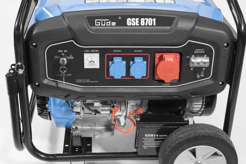 Güde Stromerzeuger, Stromaggregat, Notstromaggregat, Licht und Kraftstrom, GSE 8701 RS