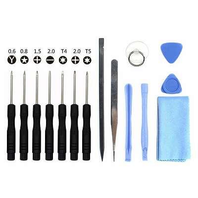 iPhone Werkzeug Pentalobe 5-Stern und Tri-Wing Y-Schraubendreher 15-teilig!