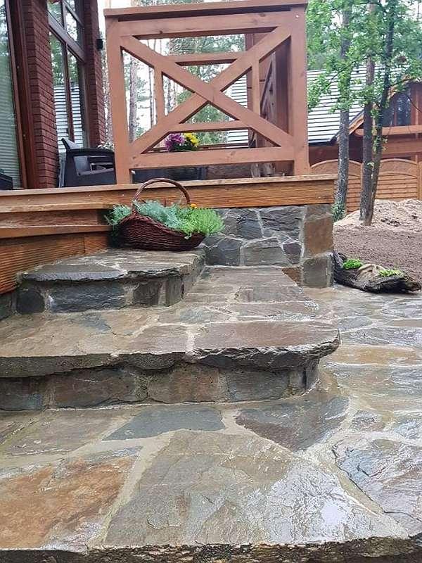 Polygonalplatten / Gartensteine / Gartenplatten aus SCHIEFER - frostbeständig - Naturstein