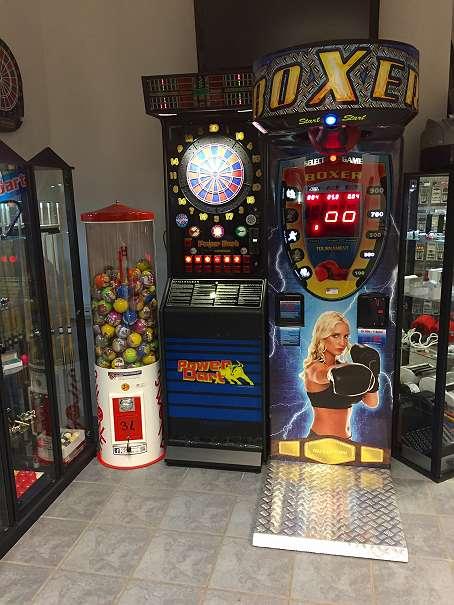 Automatenaufstellung von Unterhaltungsgeräten wie zb. Dartautomat, Tischfussball, Billard, Flipper, Boxer, Warenautomaten...