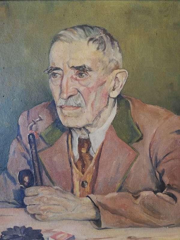 Portrait eines alten Mannes mit Pfeife