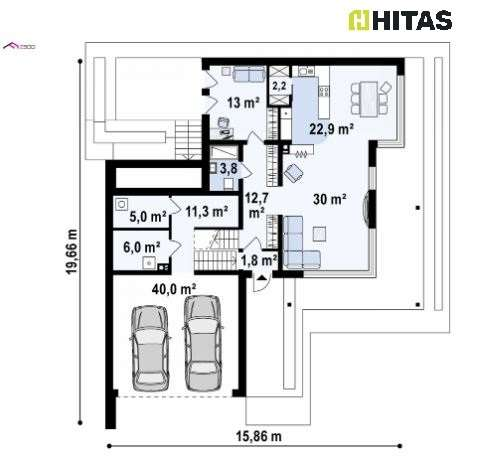 Modernes Fertighaus Zx151 - 207,55m² NGFL - inkl. Garage - ohne Grundstück