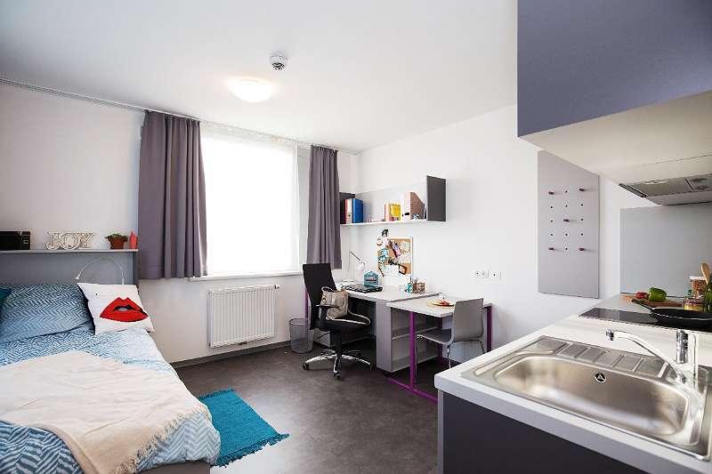 Einzelzimmer-Apartment mit Kleinküche - voll möbliert