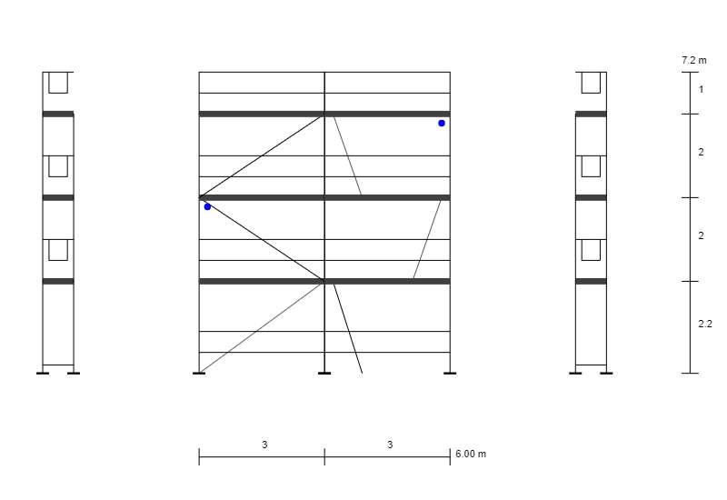 Fassadengerüst 51 qm Gerüst Typ Plettac Durchsieg 3,0 m Baugerüst NEU Alurahmen