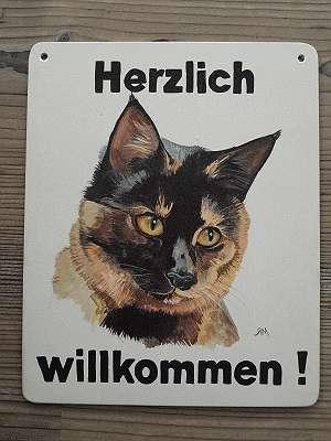 Ich male dein Haustier auf deine Katzen-Tafel / Schild - perfektes Geschenk !
